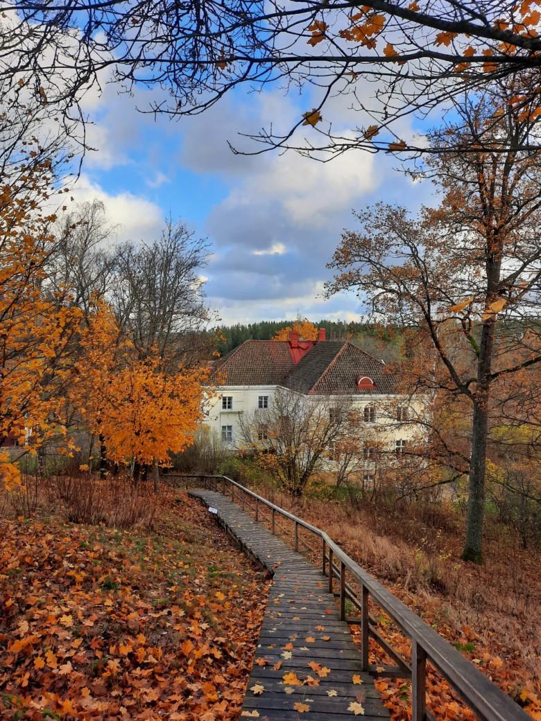 Liedon vanhalinnan maisema syksyllä